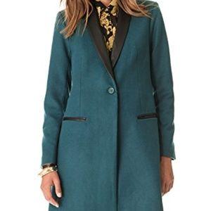 BB Dakota Blair Leather Trim Blazer Coat SzL